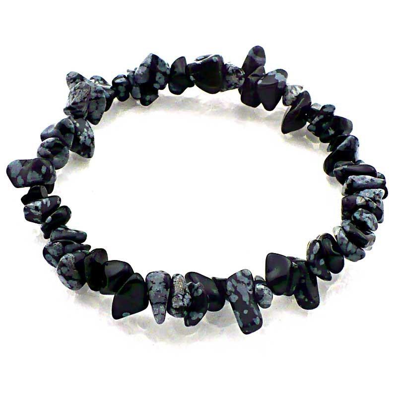 Bracelet baroque Obsidienne neige