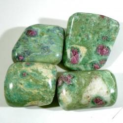 Rubis dans fuchsite d'Inde - pierres roulées