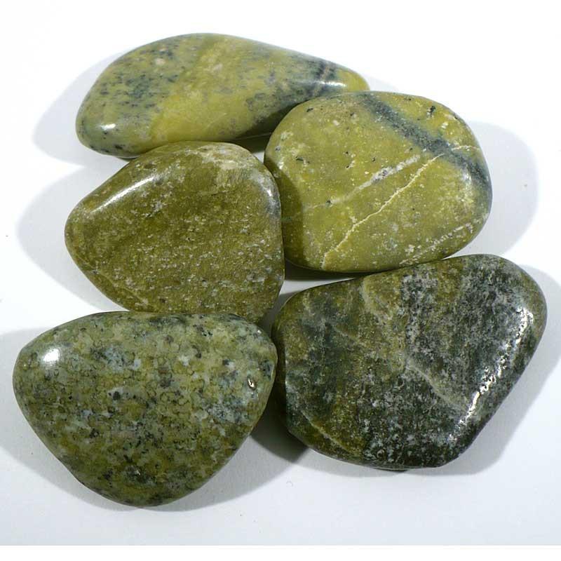 Serpentine du Pérou - pierres roulées