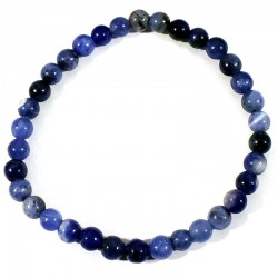 Bracelet enfant en Sodalite perles rondes 4mm