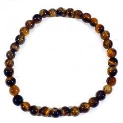 Bracelet enfant en Oeil de tigre perles rondes 4mm