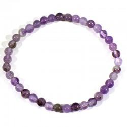 Bracelet enfant en Améthyste perles rondes 4mm