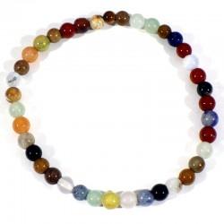 Bracelet enfant pierres mélangées perles rondes 4mm