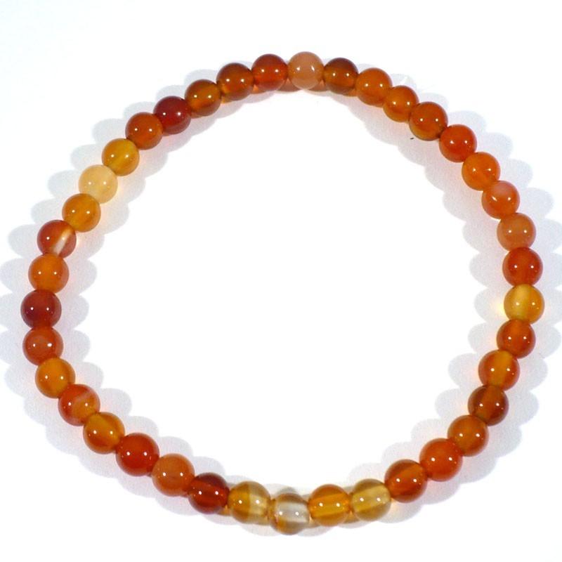 Bracelet enfant en Cornaline perles rondes 4mm