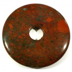 Pendentif donuts en jaspe bréchique 5cm