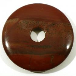 Pendentif donuts en jaspe rouge 5cm