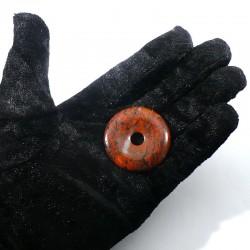 Pendentif donuts en jaspe bréchique 4cm