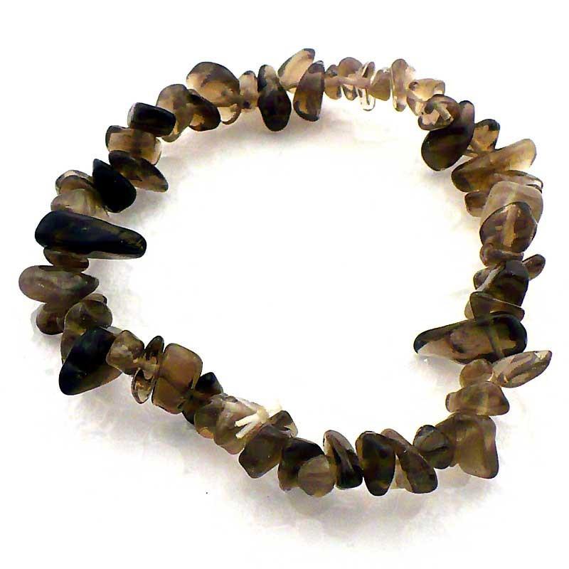 Bracelet baroque en quartz fumé