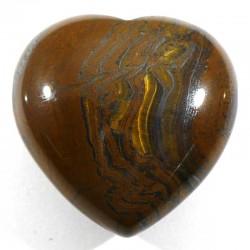 Pendentif coeur en oeil de tigre 3cm