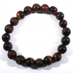 Bracelet oeil de taureau perles rondes 10mm