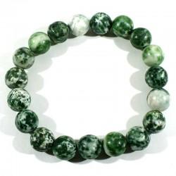 Bracelet en agate arbre perles rondes 10mm