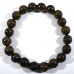 Bracelet en bronzite perles rondes 10mm