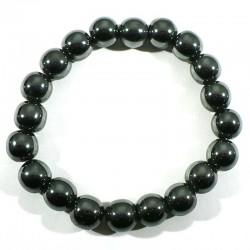 Bracelet en hématite perles rondes 10mm