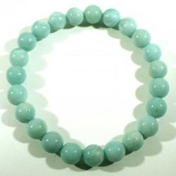 Bracelet en amazonite perles rondes 8mm