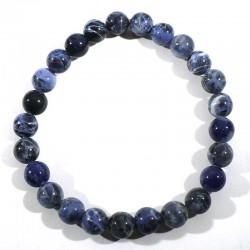 Bracelet en sodalite perles rondes 8mm