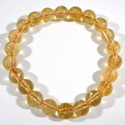 Bracelet en citrine perles rondes 8mm