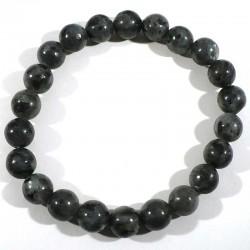Bracelet en larvikite (labradorite) perles rondes 8mm