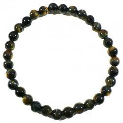 Bracelet en oeil de faucon perles rondes 6mm