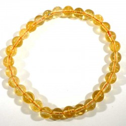 Bracelet en citrine perles rondes 6mm