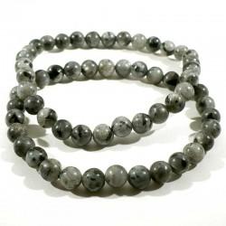 Bracelet en larvikite (labradorite) perles rondes 6mm