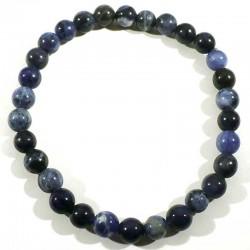 Bracelet en sodalite perles rondes 6mm
