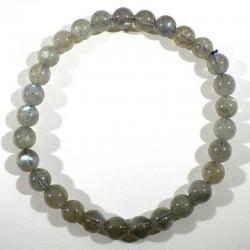 Bracelet en labradorite perles rondes 6mm