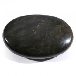 Galet de massage en obsidienne dorée 6cm