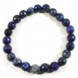 Bracelet en Lapis Lazuli perles facettées 8mm