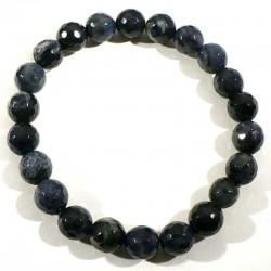 Bracelet en dumortiérite perles facettées 8mm