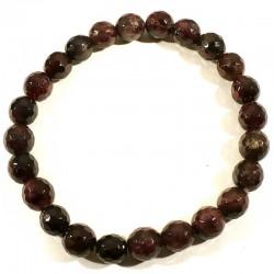 bracelet en grenat extra perles facettées 8mm