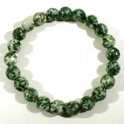 bracelet en agate arbre perles facettées 8mm