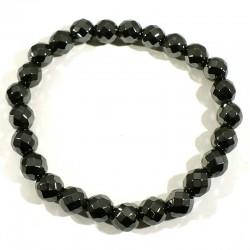Bracelet en hématite perles facettées 8mm