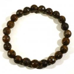 Bracelet en bronzite perles facettées 8mm