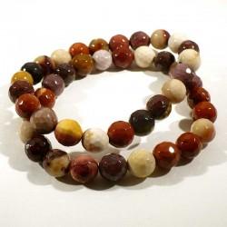 Bracelet en mookaïte perles facettées 8mm