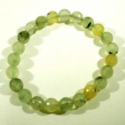 Bracelet en préhnite perles facettées 8mm