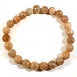 Bracelet en pierre de lune perles facettées 8mm