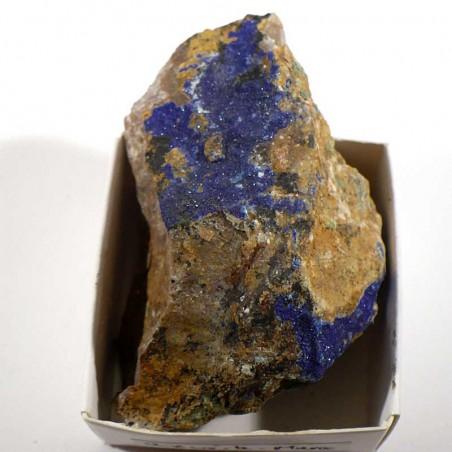 Azurite du Maroc - boite de collection 4cm