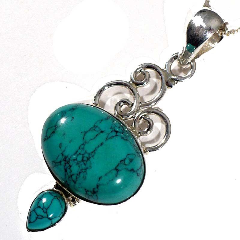 Pendentif en Turquoise et Argent