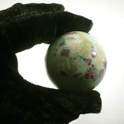 Boule en rubis dans fuchsite d'Inde 5cm