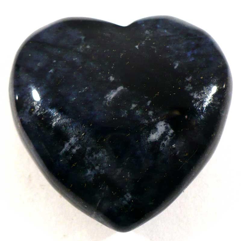 Pendentif coeur en dumortiérite 3cm
