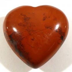 Pendentif coeur en jaspe rouge 3cm