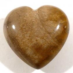 Pendentif coeur en bois fossile 3cm