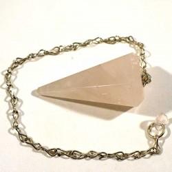 Pendule classique en quartz rose 3cm