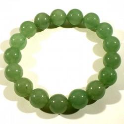 Bracelet en aventurine perles rondes 12mm