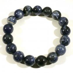 bracelet en sodalite perles rondes 12mm