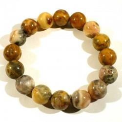 Bracelet en agate crazy lace perles rondes 12mm
