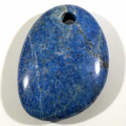 Pendentif galet plat en lapis lazuli 4cm