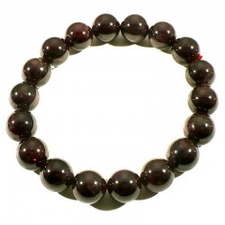 Bracelet en Grenat extra perles rondes 12mm