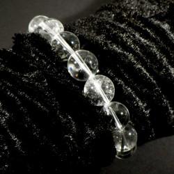 Bracelet en cristal de roche perles rondes 12mm