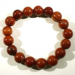 Bracelet en Jaspe rouge perles rondes 12mm